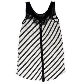 Black-White Sleeveless Dress