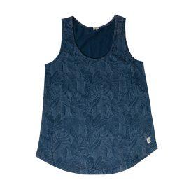 Navy Blue Sleeveless T-Shirt