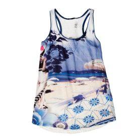 Patterned Sleeveless T-Shirt